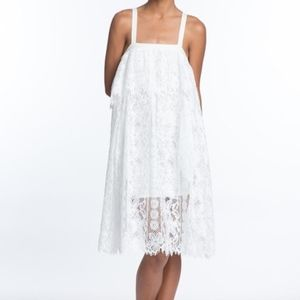Tracy reese White Cotton Blend Lace dress